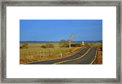 The Road Framed Print by Rima Biswas