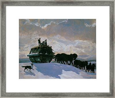 The Road Roller Framed Print by Rockwell Kent