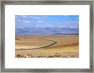Framed Print featuring the photograph The Road by Stuart Litoff