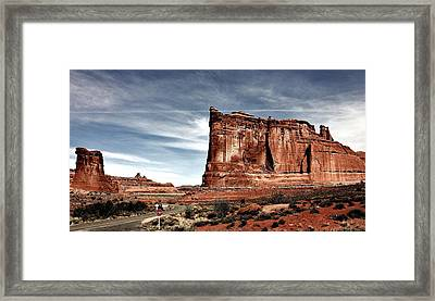 The Road Through Arches Framed Print by Benjamin Yeager