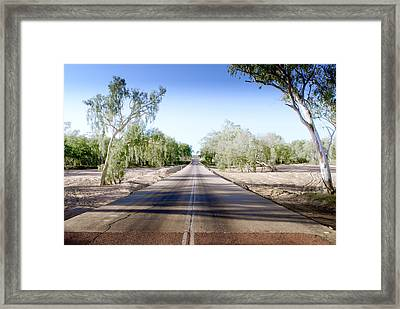Framed Print featuring the photograph The Road To Back Of Beyond by Holly Kempe