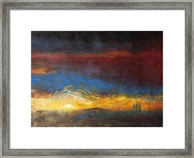 The Road To Emmaus Framed Print