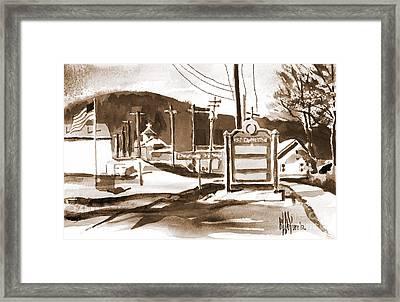 The Road To Farmington Pilot Knob Missouri Framed Print