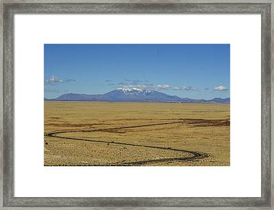 The Road To Flagstaff Framed Print