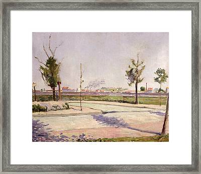 The Road To Gennevilliers, 1883 Oil On Canvas Framed Print