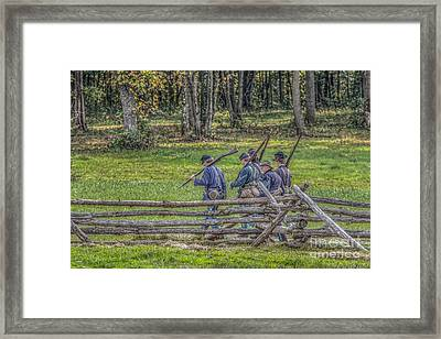The Road To Gettysburg Framed Print by Randy Steele