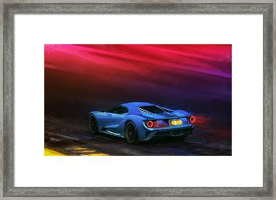 The Road To Le Mans Framed Print by Alan Greene