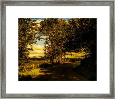 Framed Print featuring the photograph The Road To Litlington by Chris Lord
