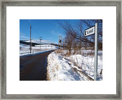 The Road To Lost Framed Print