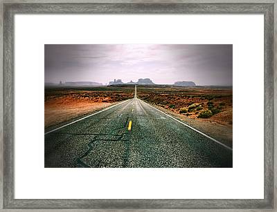 The Road To Monument Valley Framed Print by Silvio Ligutti