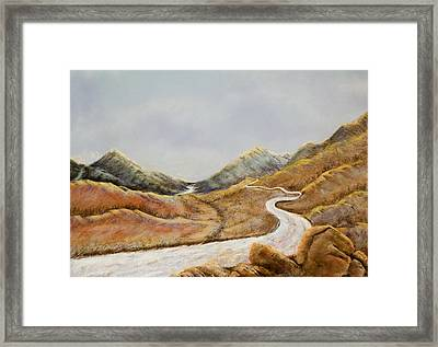 Framed Print featuring the painting The Road To Nowhere by Susan Culver
