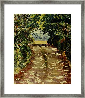 The Road To Phillipes Framed Print