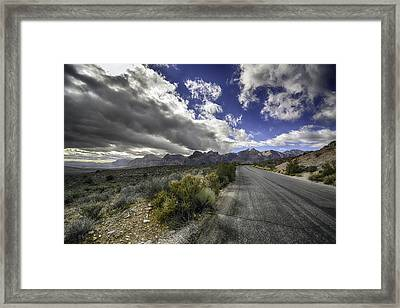 The Road To Red Rock Framed Print