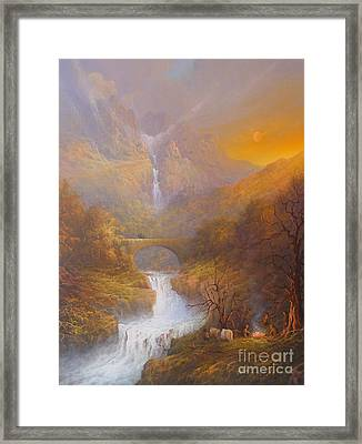 The Road To Rivendell The Lord Of The Rings Tolkien Inspired Art  Framed Print by Joe  Gilronan