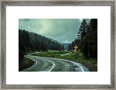 The Road To Silver Lake Framed Print