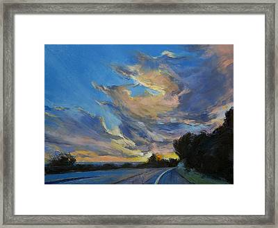 The Road To Sunset Beach Framed Print