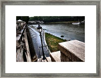 The Road To Tevere Framed Print