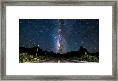 The Road To The Chisos Framed Print
