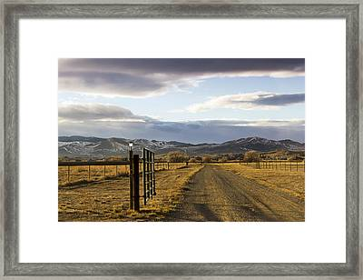 The Road To The Mountains Framed Print