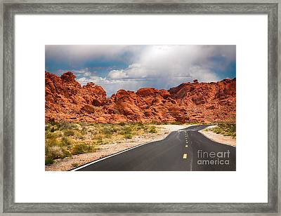 The Road To The Valley Of Fire Framed Print