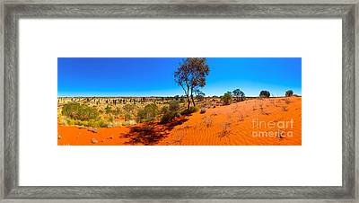 The Road To Uluru Framed Print by Bill  Robinson