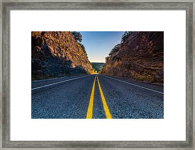 The Road To Utopia Framed Print by Jeffrey W Spencer