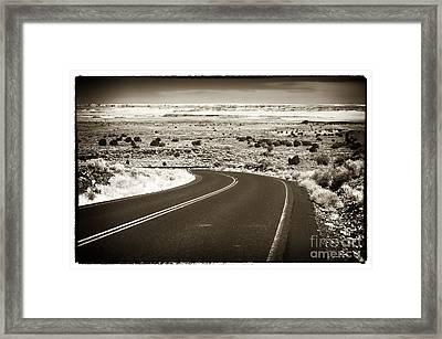 The Road To Wupatki Framed Print
