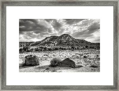 Framed Print featuring the photograph The Road To Zion In Black And White by Tammy Wetzel