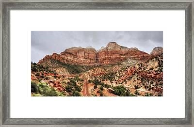 The Road To Zion Framed Print by Lori Deiter