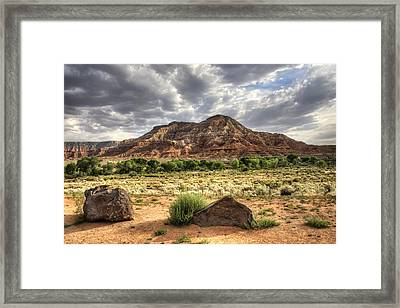 Framed Print featuring the photograph The Road To Zion by Tammy Wetzel