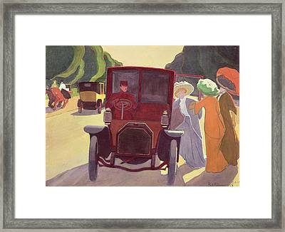 The Road With Acacias Framed Print