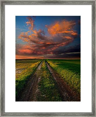 The Roads We Take Framed Print by Phil Koch