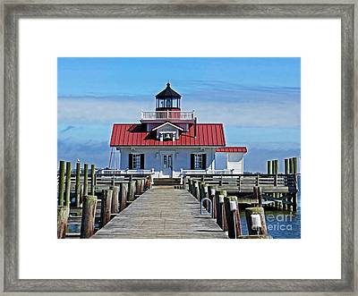 The Roanoke Marshes Lighthouse  Framed Print