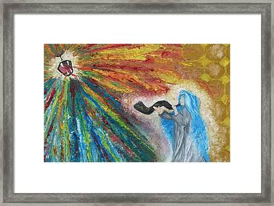 The Roar Of The Lion Framed Print by Rachael Pragnell