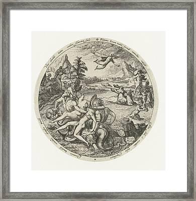 The Robbery Of Europe, Jacob De Gheyn II Framed Print by Jacob De Gheyn (ii)