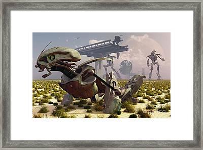 The Robot Rebellion Of Year 2150 Framed Print by Mark Stevenson