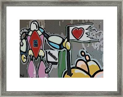 The Robot Framed Print by Tommytechno Sweden