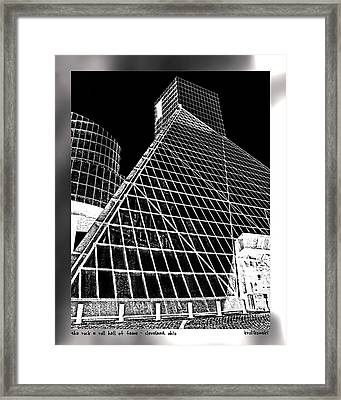 The Rock Hall Cleveland Framed Print by Kenneth Krolikowski