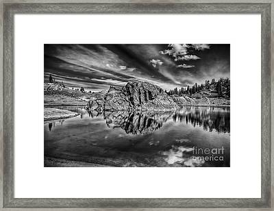 The Rock Island Bw Framed Print by Mitch Johanson