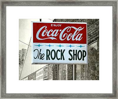 The Rock Shop Framed Print by Pete Trenholm