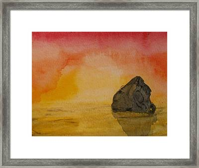 The Rock Framed Print by Thomasina Durkay