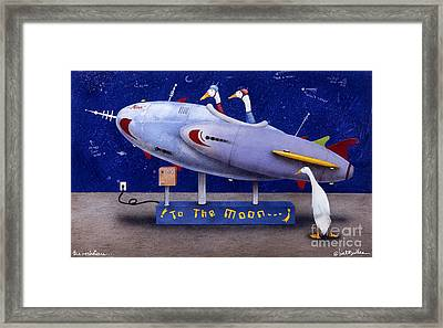 The Rocketeers... Framed Print by Will Bullas