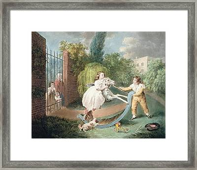 The Rocking Horse Framed Print by James Ward