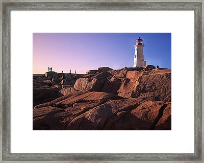 The Rocks At Peggy's Cove Framed Print