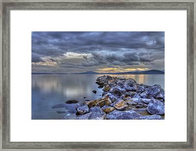 The Rocks Framed Print by George Leontaras