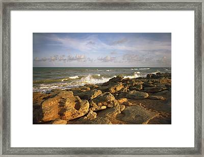 The Rocks Iv. Flagler County. Framed Print