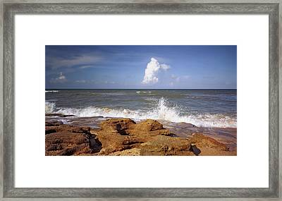 The Rocks V. Flagler County. Framed Print
