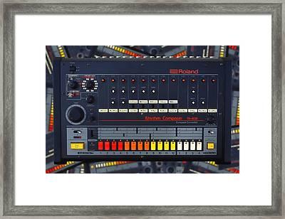 The Roland Tr-808 Rhythm Composer Drum Machine Framed Print by Gordon Dean II