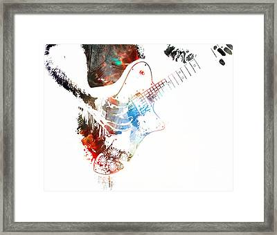 The Roll Of Rock  Framed Print