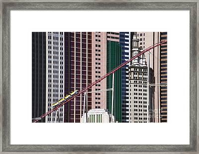 The Roller Coaster Las Vegas Nevada Framed Print